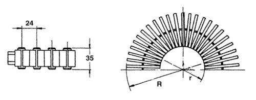 Решетка переливная ширина 246 мм , 43 шт/1м.п - изображение 2