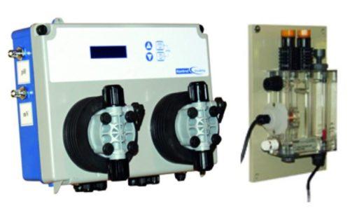 Измерительно-дозирующая станция   KONTROL INVIKTA DOUBLE pH , свободный хлор,  с ячейкой и насосами 5 л/час