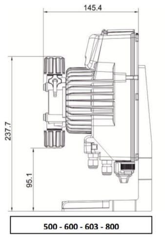 Дозирующий насос мембранного типа AKL800 - изображение 3