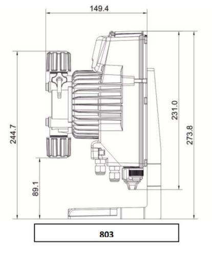 Дозирующий насос мембранного типа AKL803 - изображение 3
