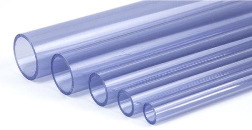 Труба PVC прозрачная клеевая 75 мм
