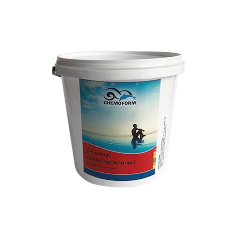 pH-Regulator Minus (гранулят), 1 кг, 3 кг, 5 кг, 25 кг. Препарат для снижения уровня рН в воде бассейна
