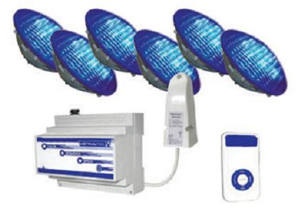 Комплект LED ламп 27Вт — 6 шт + пульт управления + модулятор