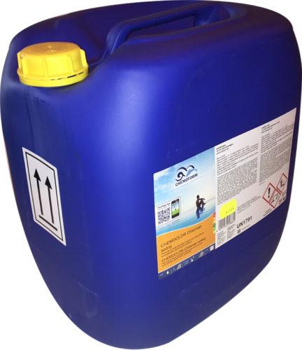 Chemochlor  (жидкий) , 35 кг концентрированный раствор очищенного гипохлорита натрия