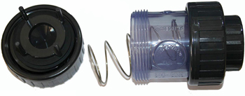 Обратный клапан с пружиной 50 мм клеевой прозрачный