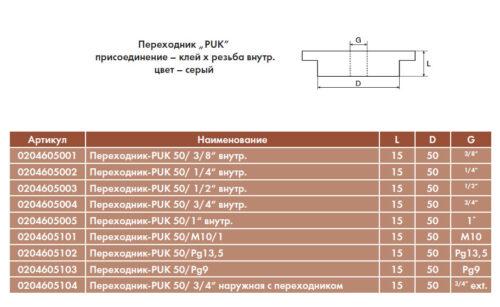 Переходник PUK 50/ - изображение 2