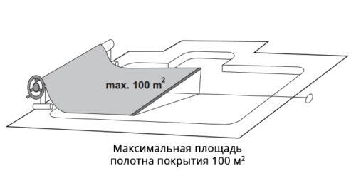 Ролета навивочная JUMBO мобильная, 6,4 — 8,6м - изображение 3