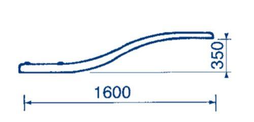 Доска прыжковая Astral Dolphin гибкая, высота 0,35 м, длина 1,6 м с анкерным креплением - изображение 2