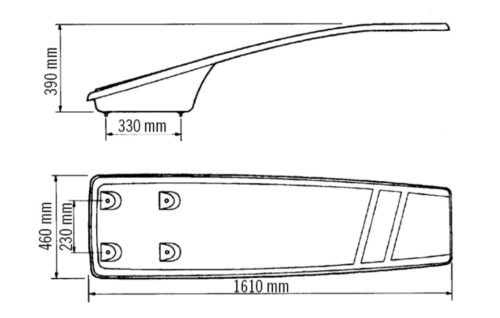 Доска прыжковая Astral Dinamic гибкая, ширина 0,46 м, длина 1,61 м с анкерным креплением - изображение 2
