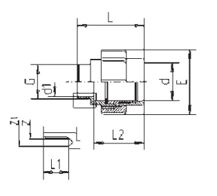 Флекс-система разборная 50 мм зажим х 1 1/2″ нар.резьба с O-кругом - изображение 2