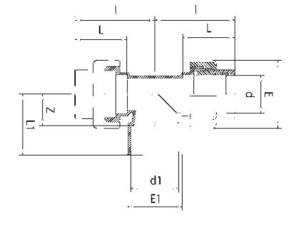 Флекс-система тройник 50 мм клей/50 мм клей/50 мм зажим - изображение 2