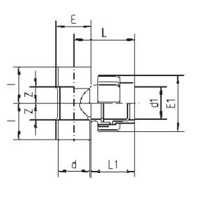 Флекс-система тройник 50 мм зажим - изображение 2