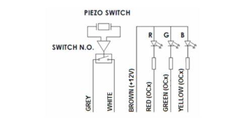 Пьезокнопка с подсветкой RGB, кабель 2,5м. - изображение 3