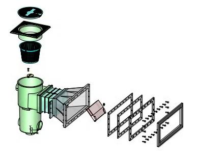 Скиммер BWT, модель SL-119-M, широкая горловина, с удлинением, для лайнера - изображение 3