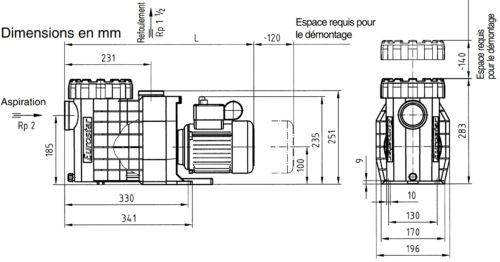 Насос Eurostar II 100-M 12м3/год - изображение 3