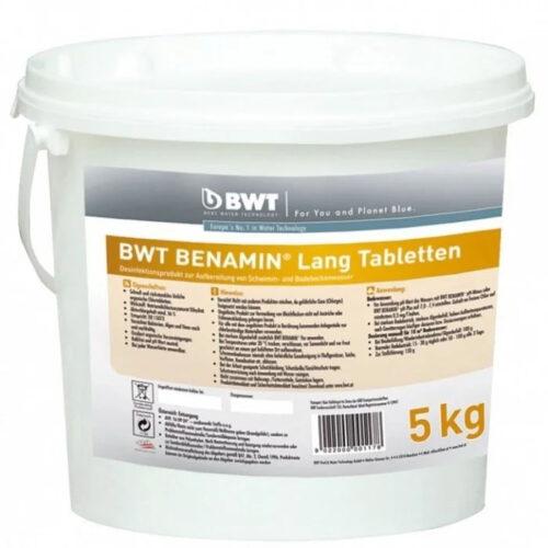 BWT BENAMIN LANG ХЛОРНЫЕ ТАБЛЕТКИ 5 КГ. Медленно растворимые таблетки для дезинфекции воды в бассейне