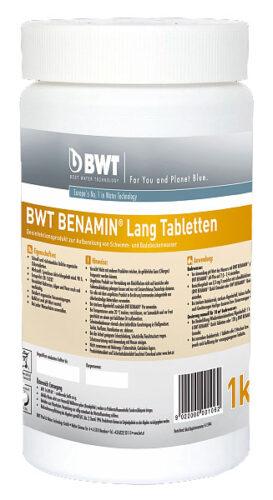 BWT BENAMIN LANG ТАБЛЕТКИ (табл. 20 гр) 1 кг. Безизвестковые, медленно растворимые таблетки на основе хлора