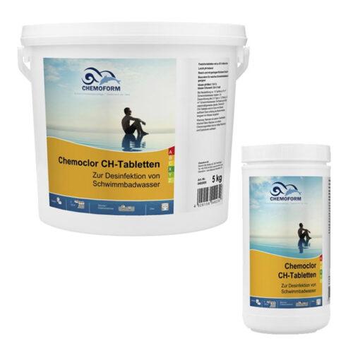 Chemochlor CH-Tabletten 1 кг, 5 кг, 10 кг, 25 кг. Подходит как для шокового, так и для длительного хлорирования