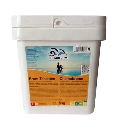 Brom-Tabletten 5кг. Средство для дезинфекции воды в бассейне на основе активного брома.