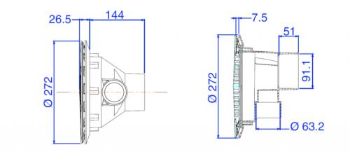 Возвратная форсунка RL-303 с решеткой - изображение 3