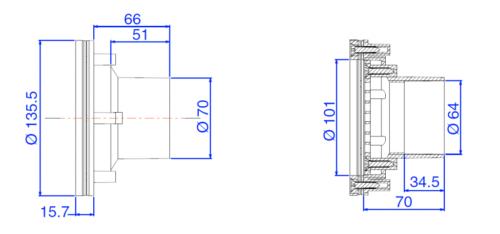 Возвратная форсунка RL-319 с решеткой - изображение 3