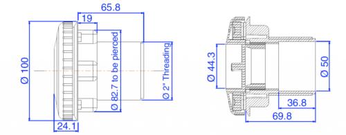 Форсунка с подключением для «пылесоса» и крышкой - изображение 2
