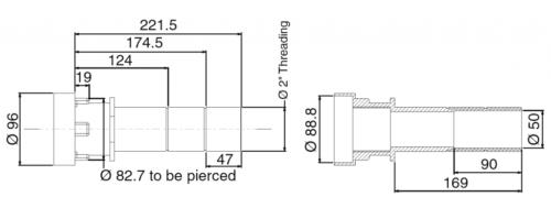 Универсальный стеновой проход 250 мм - изображение 3