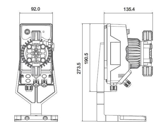 Дозирующий насос Kompact AMC с аналоговым контролем и регулируемым расходом, пропорциональное дозирование - изображение 2