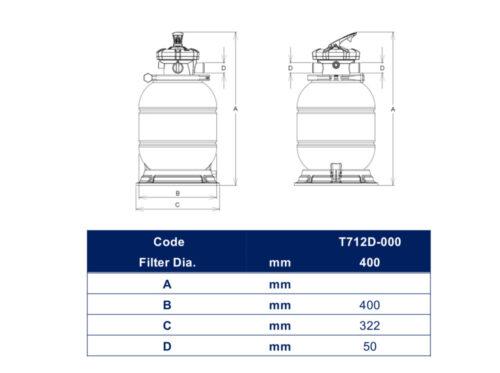 Комплект фильтра D400 производительностью 6 м³/ч с насосом FREEFLO, 0.37 кВт (с подставкой) - изображение 2