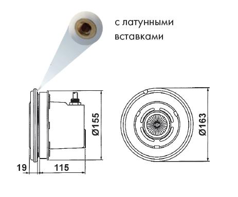 Прожектор VА 50 Вт/12В, с латунными вставками, для пленки, АВS, с защитным шлангом - изображение 2