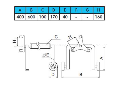 Ролета навивочная JUMBO мобильная, 6,4 — 8,6м - изображение 2