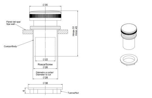Воздухорегулятор Astral, лицевая бронза хром,1/2″ - изображение 2