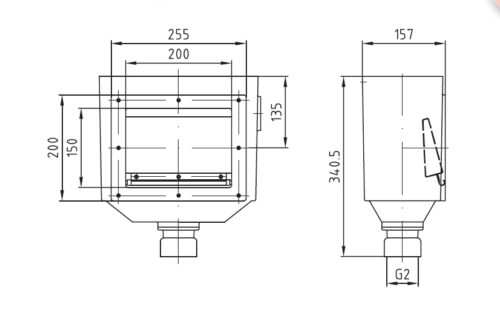Скиммер AllFit 160 мм, бронза, с одним выходом - изображение 2