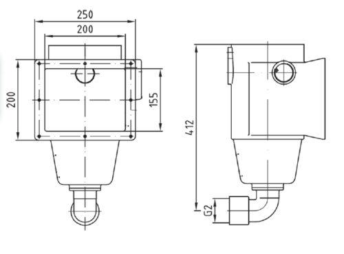 Скиммер AllFit 240 мм, бронза, с одним выходом - изображение 2