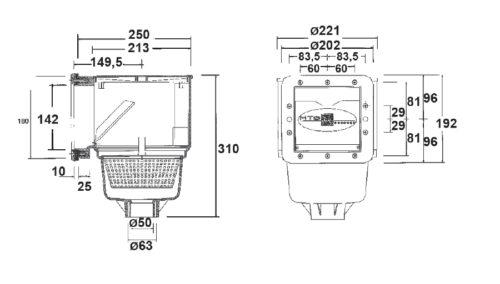 Скиммер V10 150 х 150 мм - изображение 2