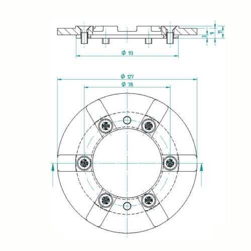 Фланцевый комплект для донной форсунки Fitstar - изображение 2