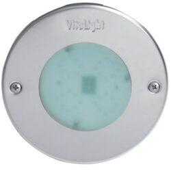 Подводный светодиодный прожектор, 4 цвета,/8 диодов, 24V/DC, 6000 K, 4300LM дневной белый свет, 5м кабеля 2х1,5мм2. Ø-146 мм.