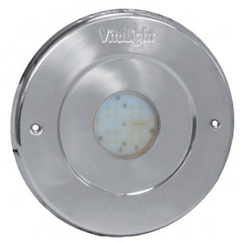 Подводный светодиодный прожектор, 4 цвета/16 диодов, 24V/DC, 6000К, дневной белый свет, 5м кабеля 2х1,5мм2. Ø -270 мм.