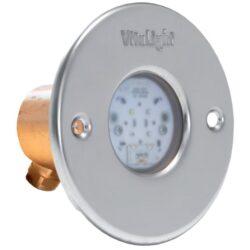 Подводный светодиодный прожектор, 4 цвета/4 диода, 24V/DC, RGB, 1220LM, 5м кабеля 2х1,5мм2. Ø-110мм.