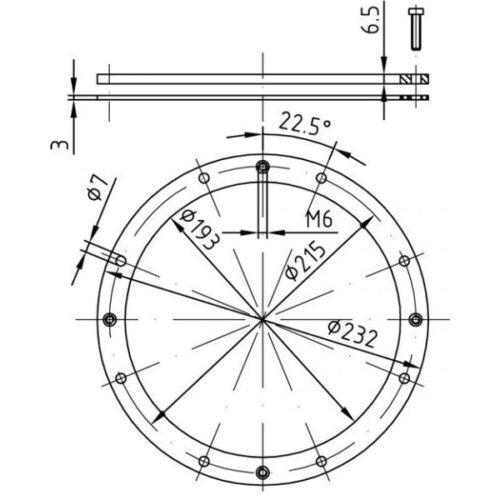Фланцевый комплект для закладной 4400020 - изображение 2