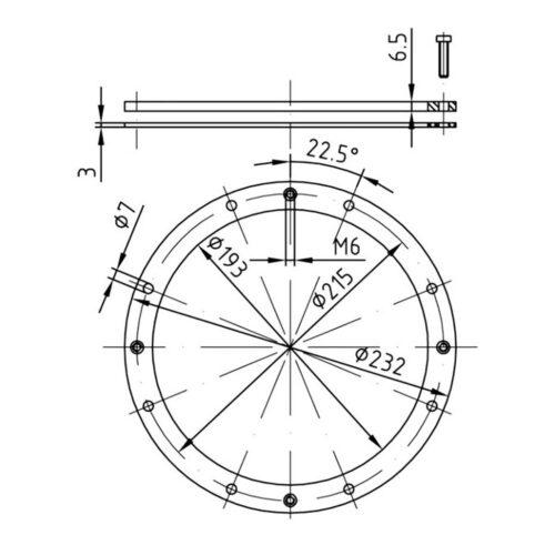 Фланцевый комплект для закладной 4100050 - изображение 2