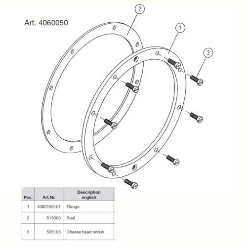 Фланцевый комплект для закладной 4100050 - изображение 4