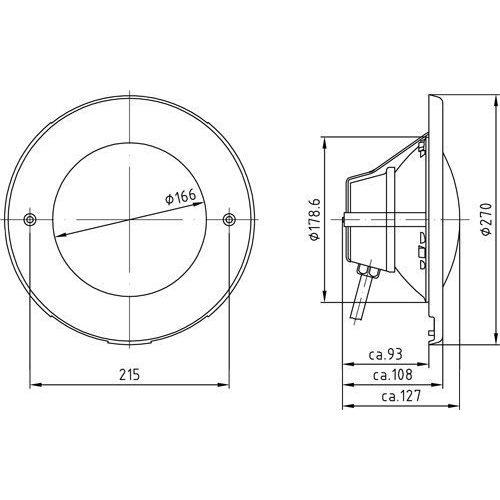 Лицевая панель прожектора  300 Вт/12 В (PAR 56), 2.5м кабеля 2х6мм2., нерж.сталь - изображение 2