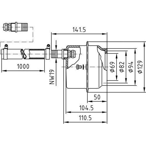 Закладная для прожекторов, Ø- 110 мм (4 цвета/4 диода), бронза - изображение 2