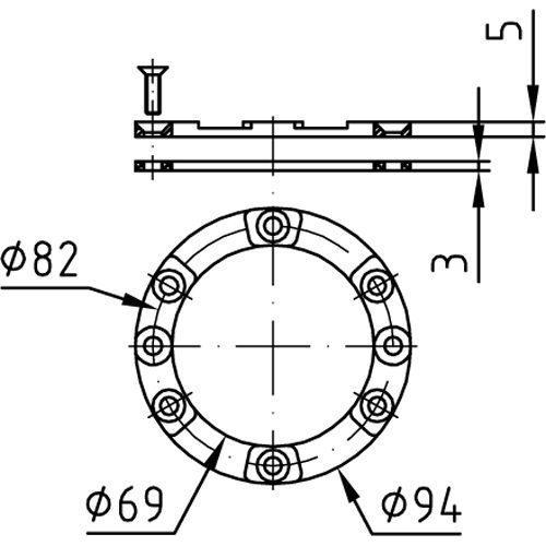 Фланцевый комплект для закладной 4250050 - изображение 2