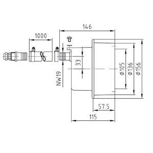 Закладная для прожекторов, Ø- 146 мм (4 цвета/16 диодов; 4 цвета/8 диодов) бронза - изображение 2