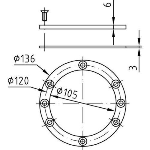 Фланцевый комплект для закладной 4266050 - изображение 2