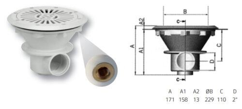 Донный слив VA-лат. вставки-для пленки - изображение 2