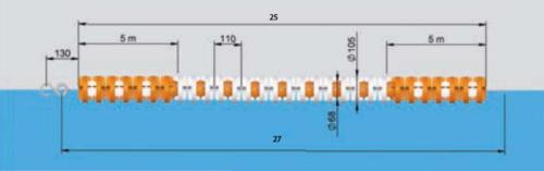 Разделители дорожек, тип «Москва», 25 м, трос нейлон - изображение 2
