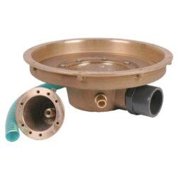 Комплект закладных донного гейзера Fitstar с подсветкой (50 Вт) с боковым выходом ( закладной элемент гейзера, резьба 1,5″ + закладной элемент пневмокнопки со шлангом)